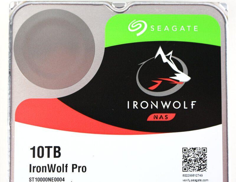 Seagate IronWolf Pro 10TB Photo label