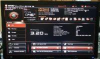 AMD Ryzen 1600 bios screen