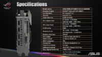 ASUS STRIX GTX 1080 Ti Specs