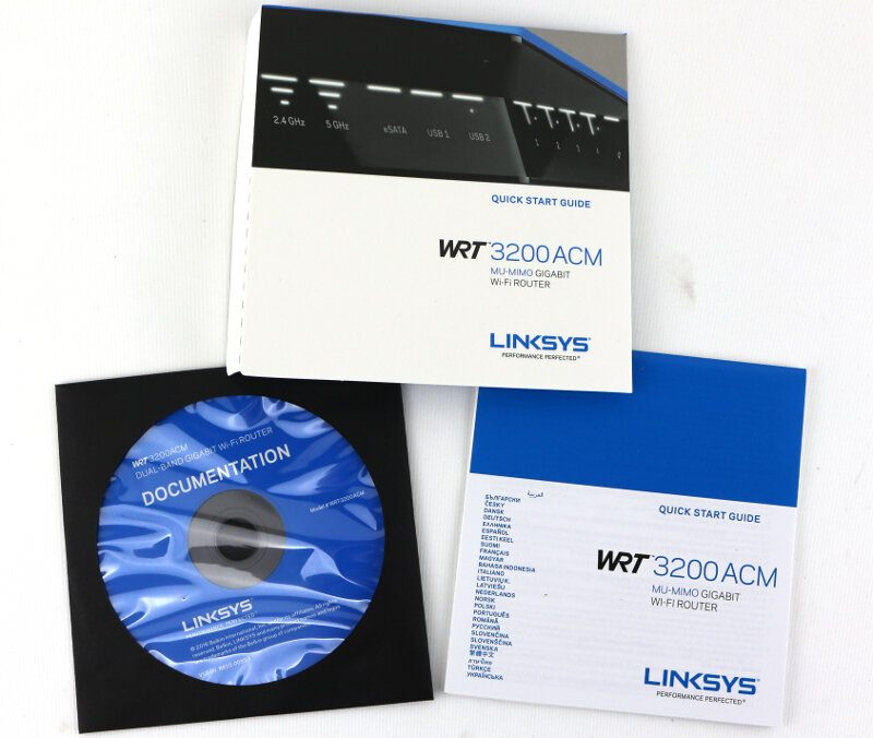 Linksys WRT3200ACM Photo box booklets