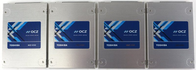 OCZ VX500 512GB 4xRAID Photo 4x side by side