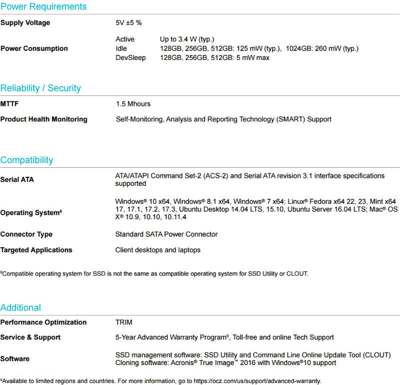 OCZ VX500 512GB 4xRAID SS specs 2
