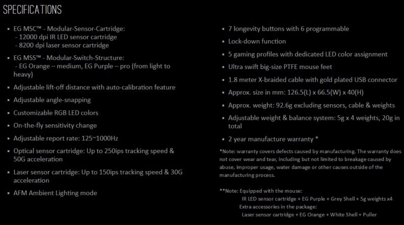 epicgear morpha x specifications