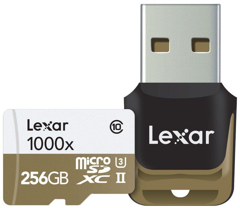 lexar microsd 1000x 256gb with reader