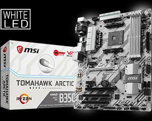 msi motherboard am4 b350 tomahawk arctic