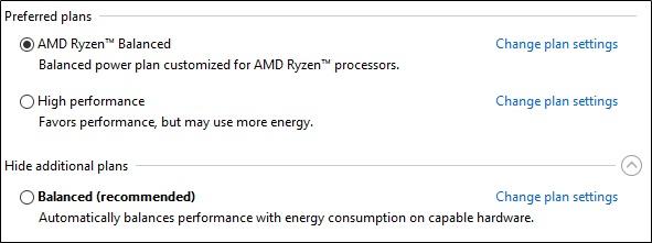 AMD Ryzen Balance Power Plan 2