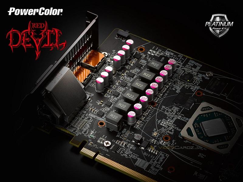 PowerColor RX 580 Red Devil Board VRM
