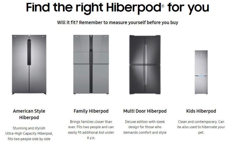 Samsung Brings Hiberpod Home Hibernation Technology to the Masses
