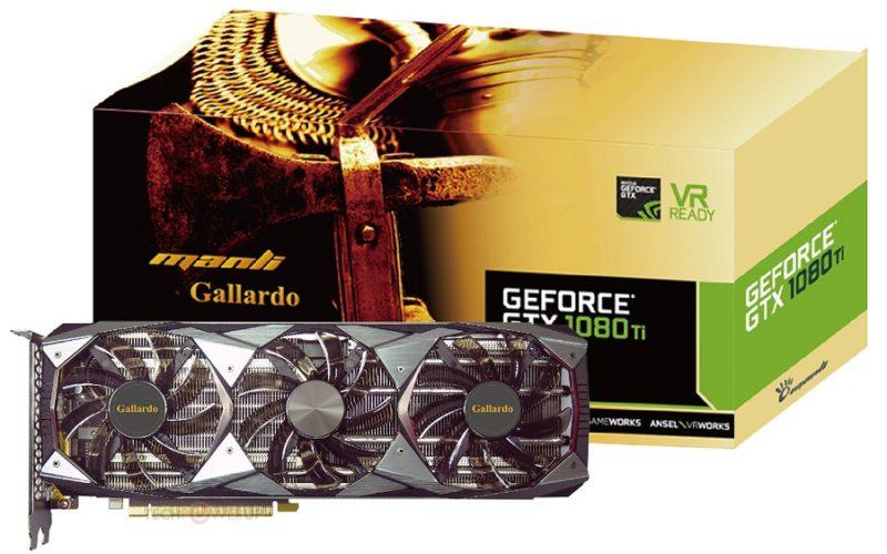 Manli Reveal Their GTX 1080 Ti Gallardo Graphics Card