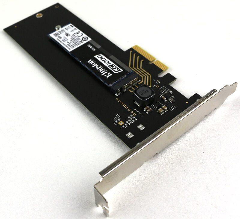 Kingston KC1000 480GB Photo view PCIe angle 3