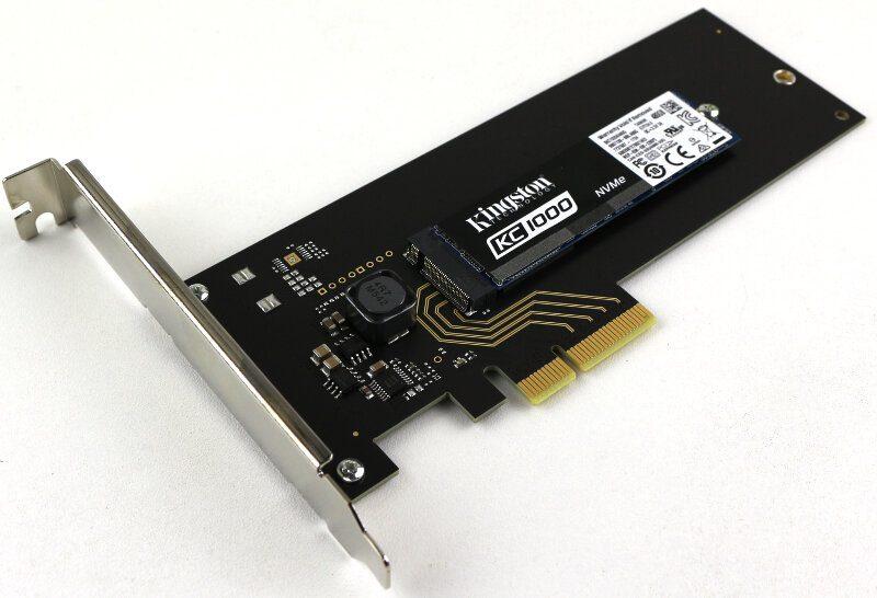 Kingston KC1000 480GB Photo view PCIe angle 4