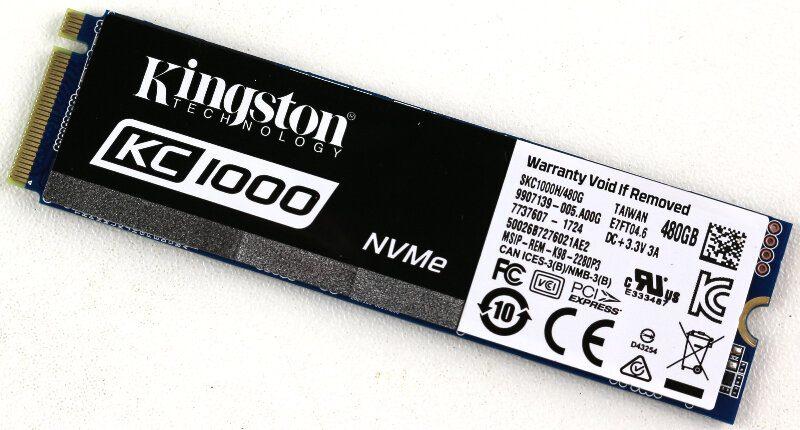 Kingston KC1000 480GB Photo view module angle 1
