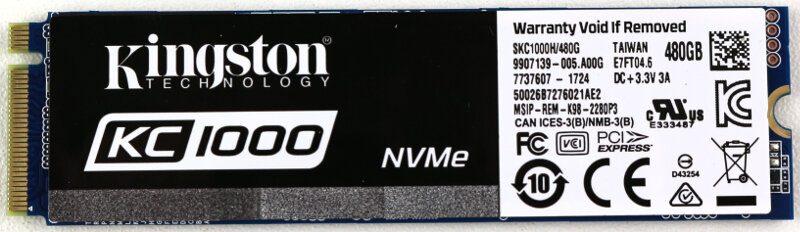 Kingston KC1000 480GB Photo view module top