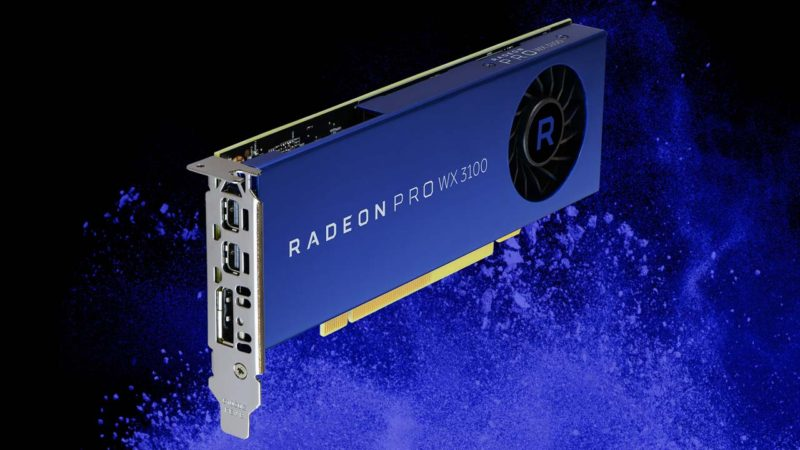 AMD Introduces Radeon Pro WX 2100 and WX 3100 Workstation Cards