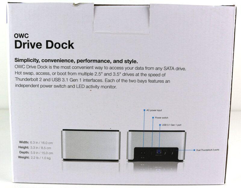 OWC Drive Dock Photo box rear