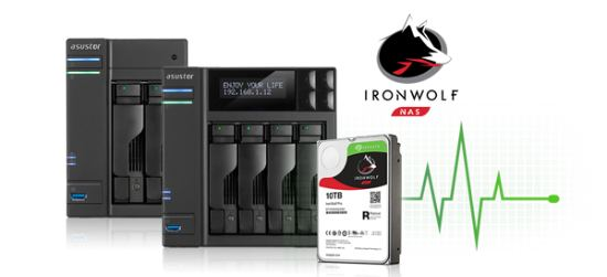 ASUSTOR NAS with Seagate IronWolf Health Management IHM