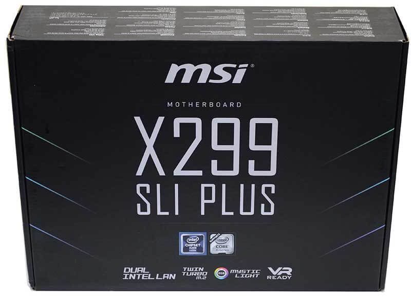 MSI X299 SLI Plus Intel X-Series Motherboard Review