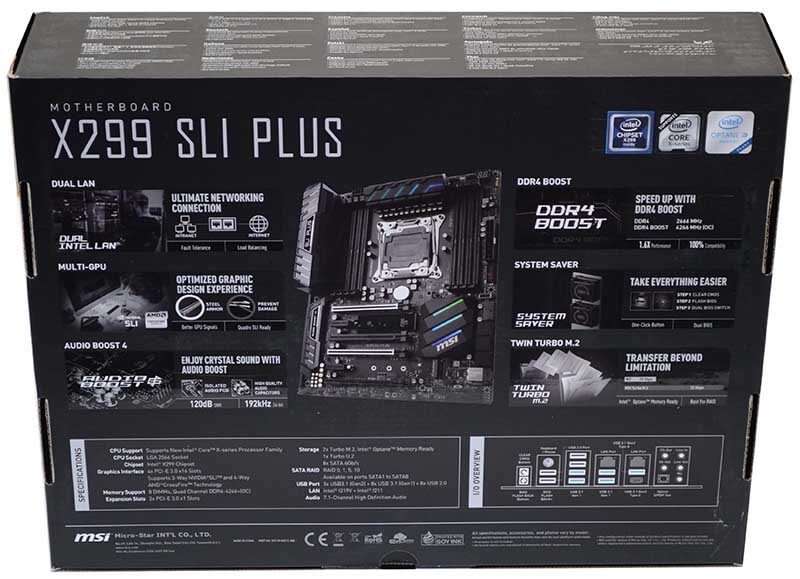 MSI X299 SLI Plus Intel X-Series Motherboard Review