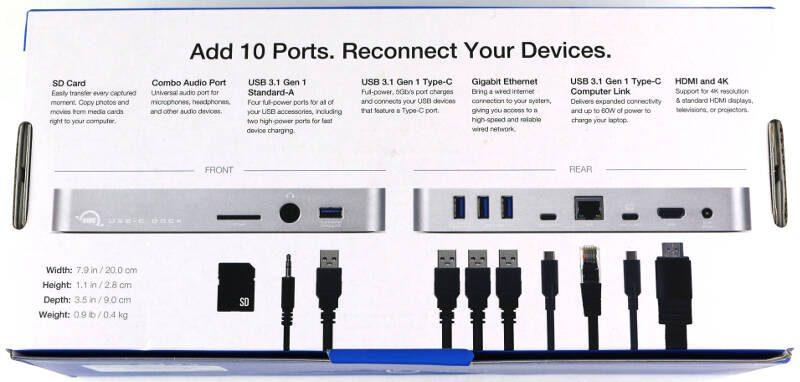 OWC USB-C Dock Photo box rear