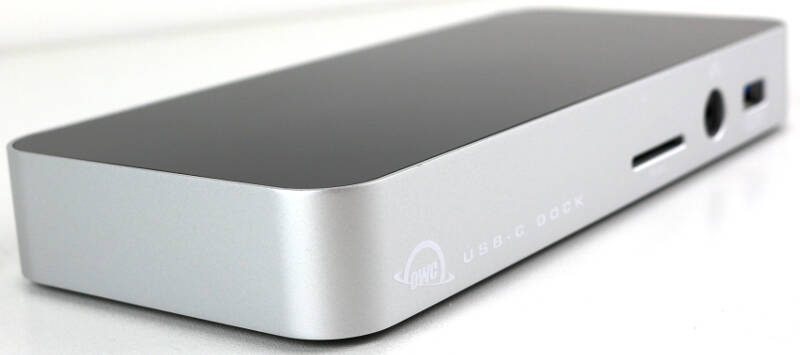 OWC USB-C Dock Photo view front angle left