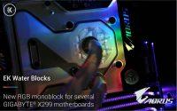 EKWB Releases RGB LED Monoblocks for Gigabyte X399 Motherboards