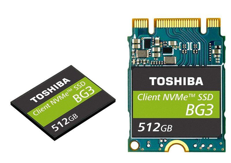 Toshiba Packs 512GB on BG3 M.2 2230 NVMe SSD