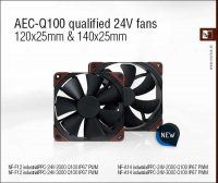 Noctua Automotive-Compliant 24V industrialPPC Fans Released