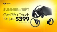Oculus Extends 'Summer of Rift' $399 Sale