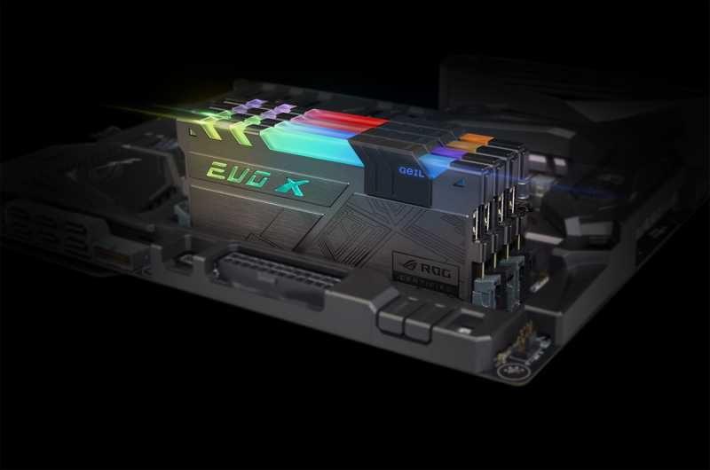 GEIL Announces EVO X ROG-certified RGB Gaming Memory
