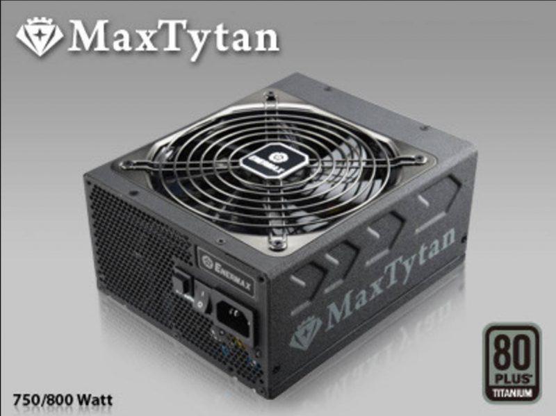 Enermax MaxTytan Titanium Rated PSUs Announced