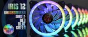 Raijintek Introduces Iris 12 Rainbow RGB Fan Series