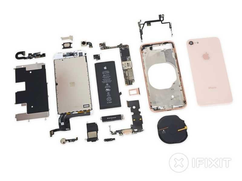 Apple iPhone 8 Teardown Shows Smaller Battery
