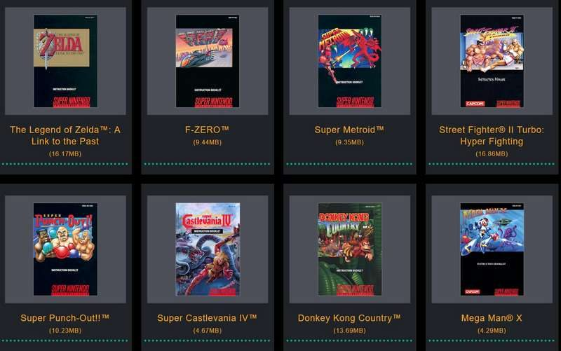 Nintendo Puts SNES Classic Game Manuals Online