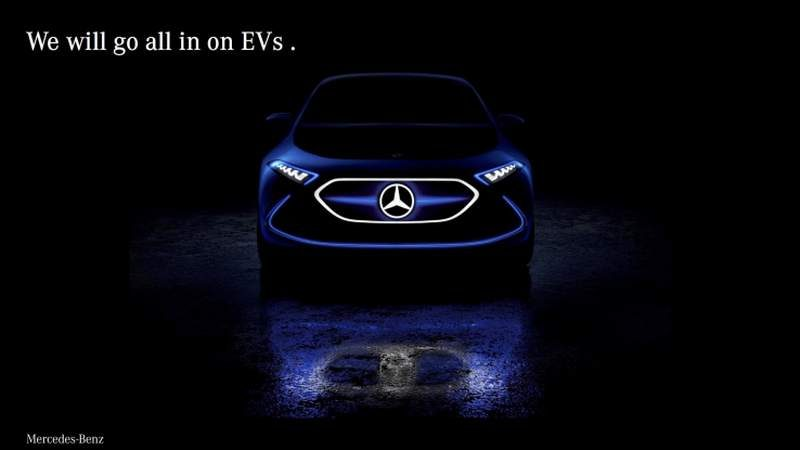 Mercedez-Benz Aims for an All-Electric Lineup by 2022