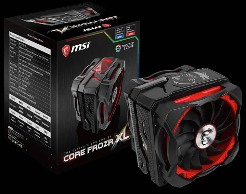 MSI Core Frozr XL RGB CPU Cooler Review