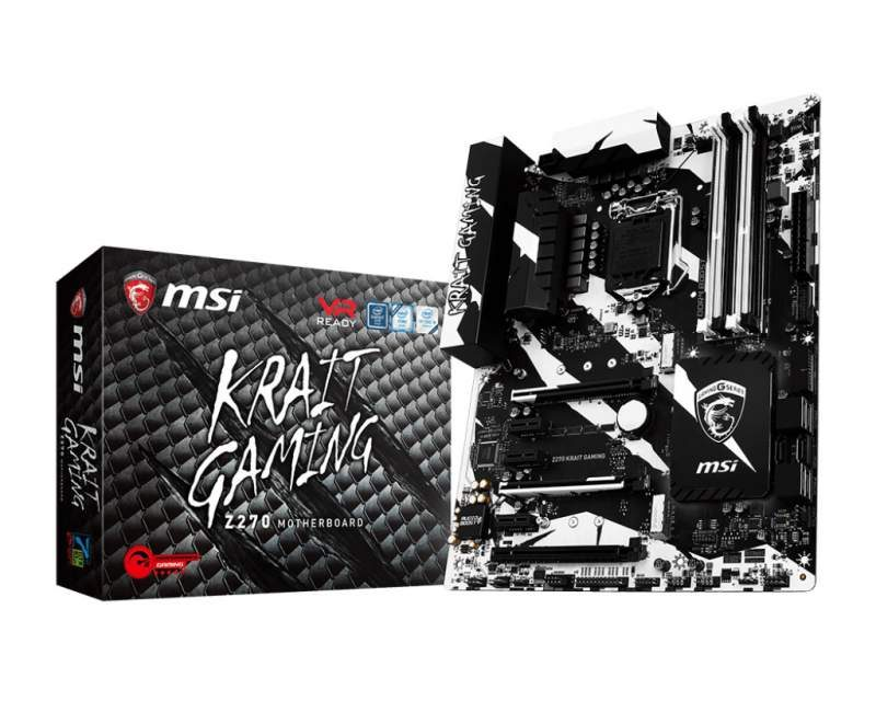 MSI Z370 Krait Gaming Motherboard Pictured