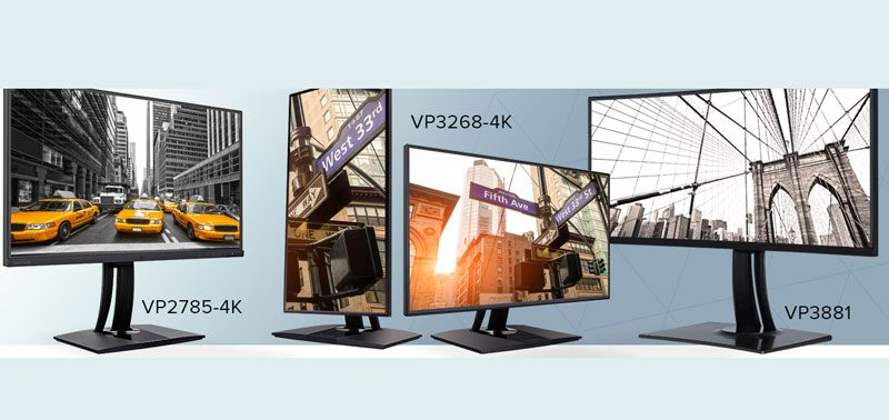 ViewSonic Introduces Three New Professional Grade Monitors