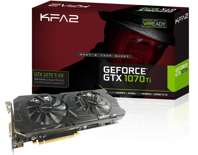 KFA2 GeForce GTX 1070 Ti Graphics Card Detailed