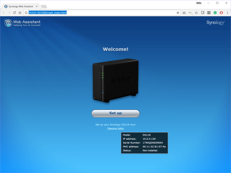 Synology NAS SS Init 1