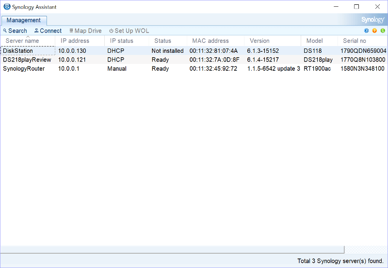 Synology NAS SS Init finder