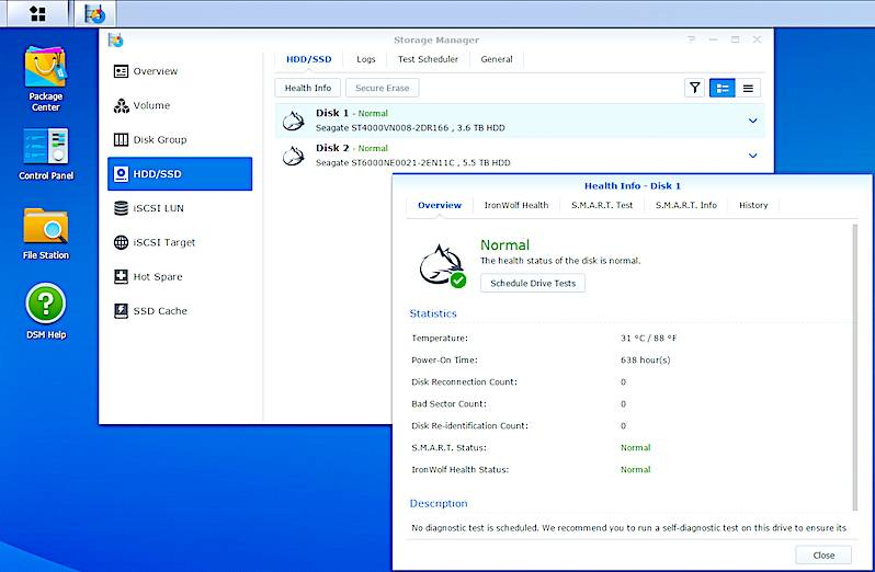 Synology and Seagate IHM PressSS