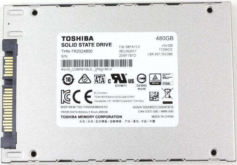 Toshiba OCZ TR200 480GB Photo view bottom