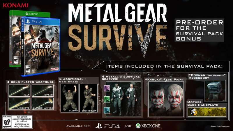 Metal Gear Survive Launches February 20, 2018