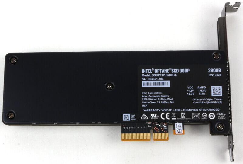 Intel 900p Optane 280GB Photo view bottom