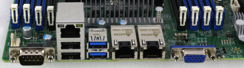 Supermicro X11SPi-TF Photo closeup IO area