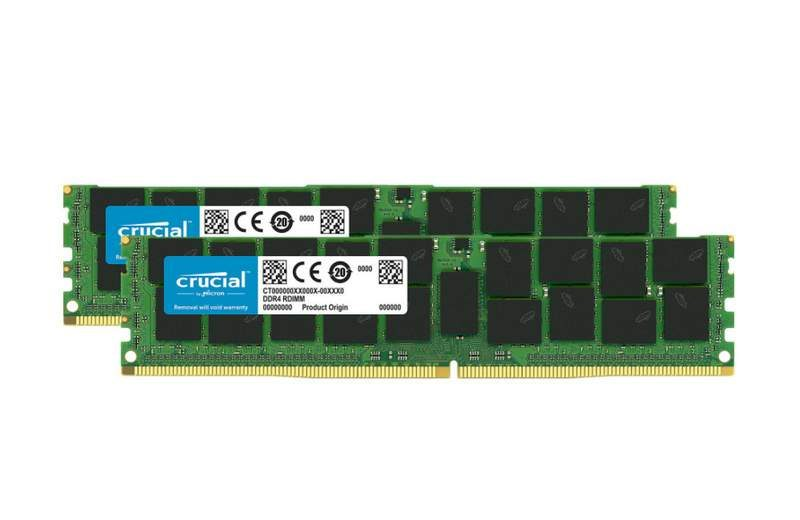 Crucial 128GB (2x64GB) DDR4 LRDIMM Kits Now Available in the UK DRAM RAM