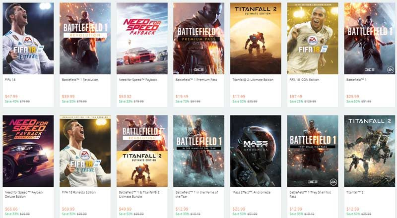 Origin Offers Up to 75% Discount on EA Games Until Nov 28