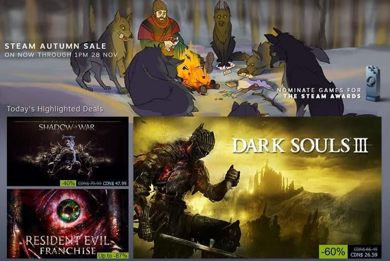 Steam Autumn Sale Goes Live–Runs Until November 28