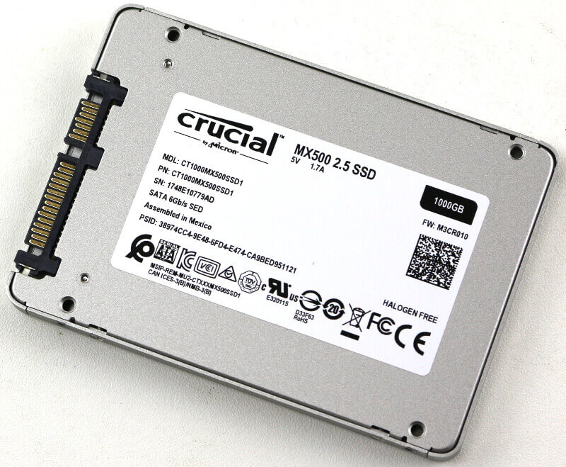 Crucial MX500 1TB Photo view rear angle