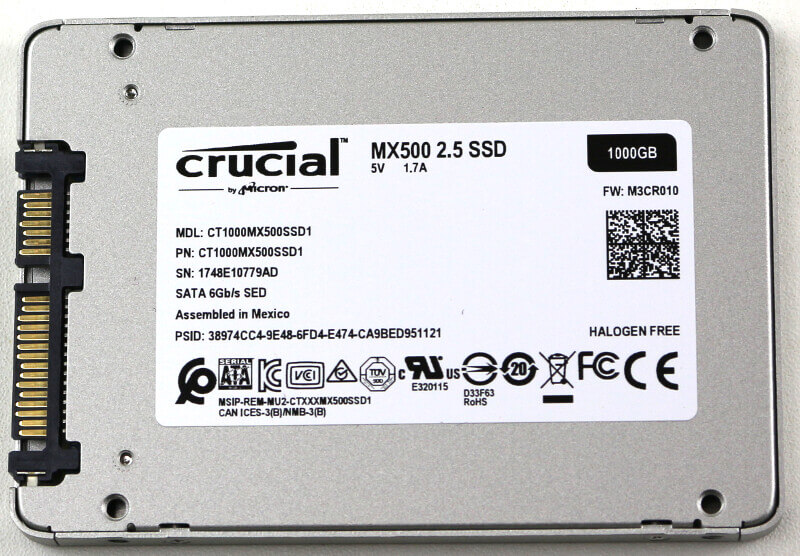 Crucial MX500 1TB Photo view rear
